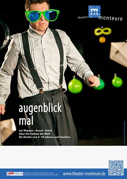 Plakat: theater monteure - augenblick mal