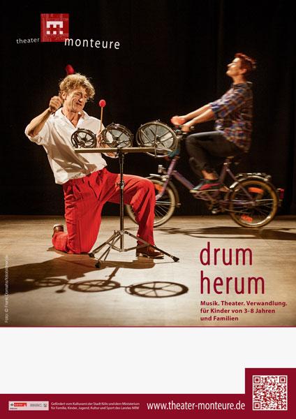 Plakat: theater monteure - drum herum