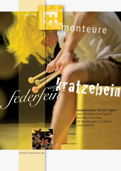 Plakat: theater monteure - federfein und kratzebein