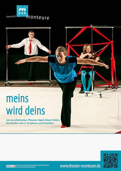 Plakat: theater monteure - meins wird deins