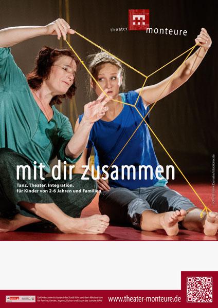 Plakat: theater monteure - mit dir zusammen