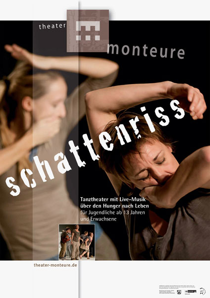 Plakat: theater monteure - schattenriss